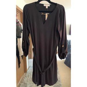 Michael Kors Black Long Sleeved Dress